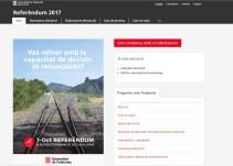 Un juez cierra la web oficial del referéndum y el Govern abre otras dos en minutos