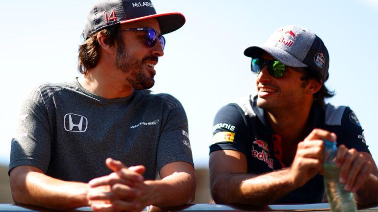 Fernando Alonso y Carlos Sainz, los dos pilotos españoles de Fórmula 1.