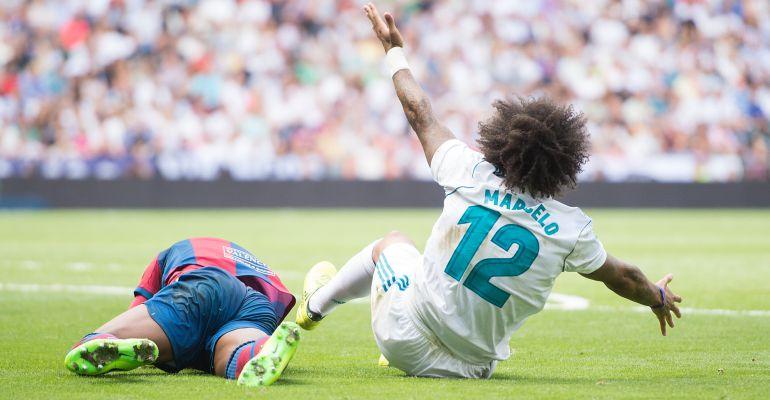 Marcelo, durante el encuentro ante el Levante de la pasada jornada liguera