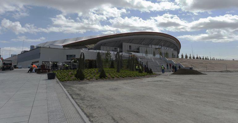 El Wanda Metropolitano, a pocas horas de su estreno liguero