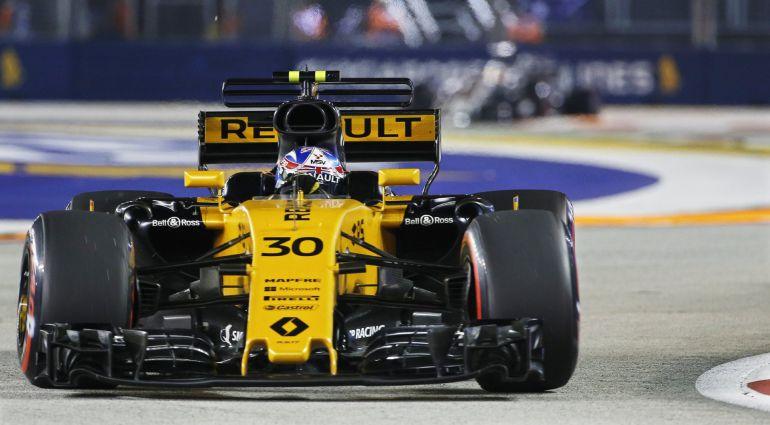 Jayson Palmer, durante un entrenamiento en el Gran Premio de Singapur