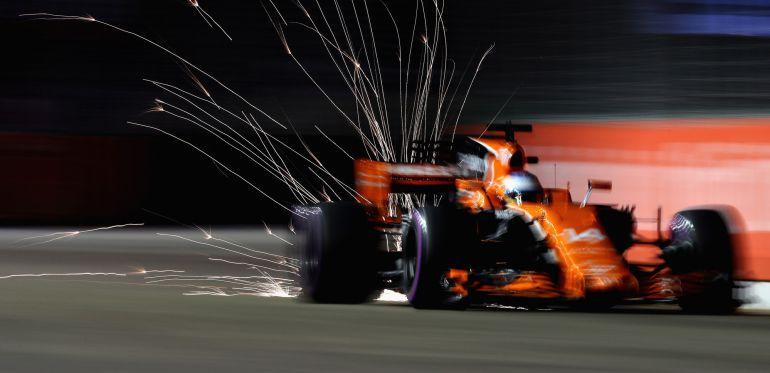 Fernando Alonso, en la calificación del GP de Singapur.
