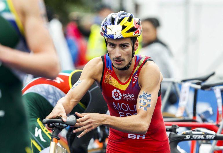 Mario Mola durante la prueba final de Rotterdam