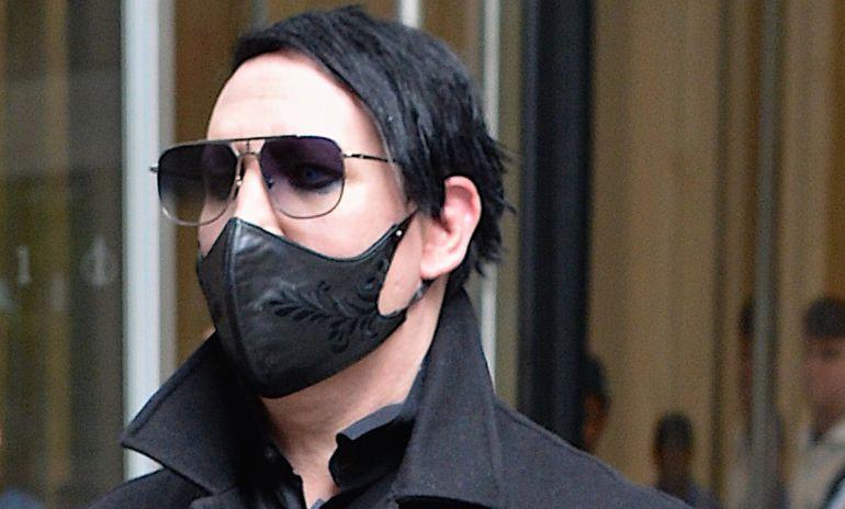 El cantante Marilyn Manson fotografiado en las calles de Nueva York