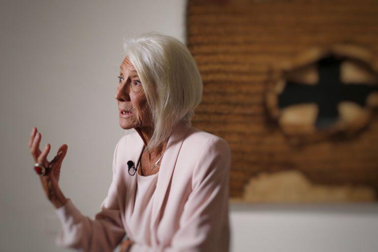 La galerista Soledad Lorenzo durante la presentación de la muestra 'Punto de encuentro'