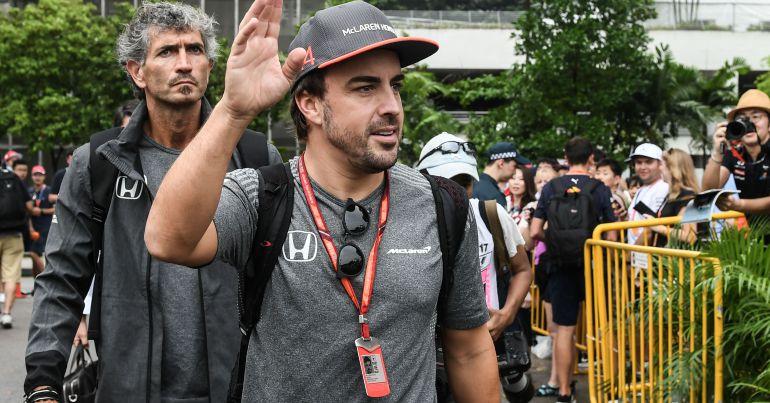 Fernando Alonso, en el último Gran Premio de Singapur.