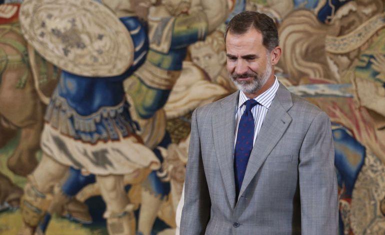 El rey Felipe VI, durante la entrega del IV Premio Enrique V