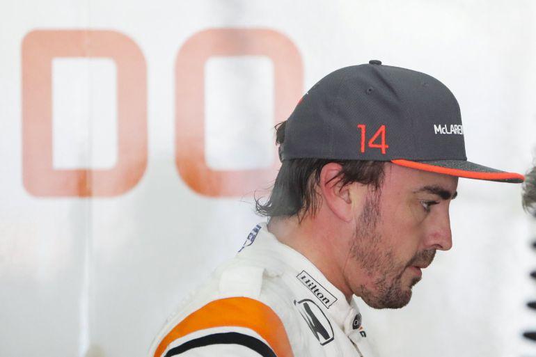 Fernando Alonso, tras un entrenamiento en Malasia