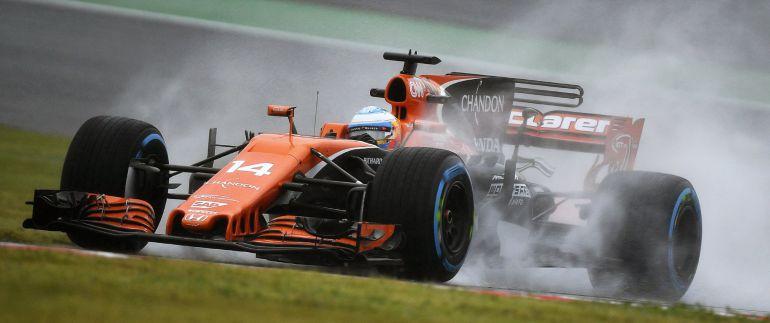 Fernando Alonso, sobre el trazado mojado de Suzuka.