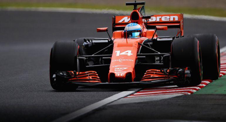 Fernando Alonso, en el trazado de Suzuka.
