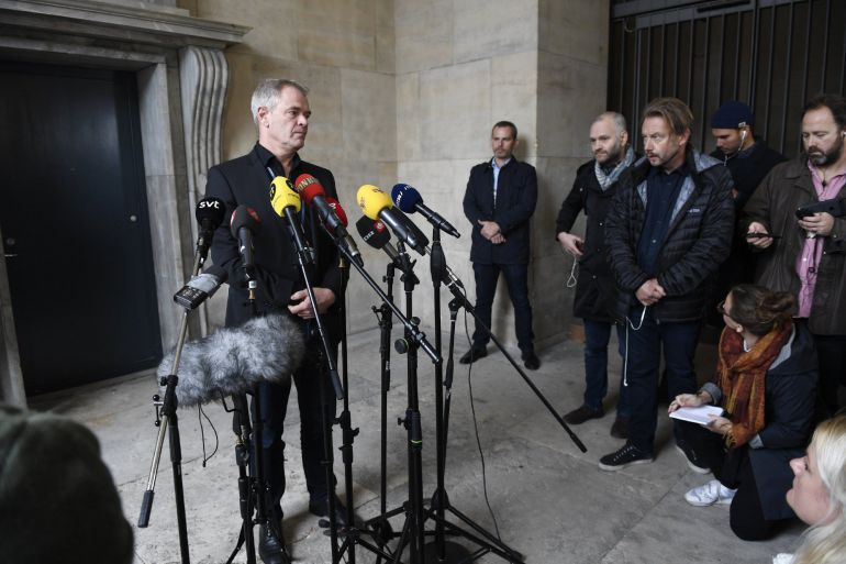 Jens Moeller, inspector de la policía danesa, informa sobre el hallazgo de la cabeza y las piernas de la periodista sueca Kim Wall.