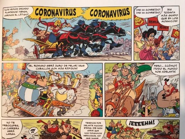 Viñeta de 'Astérix en Italia'.