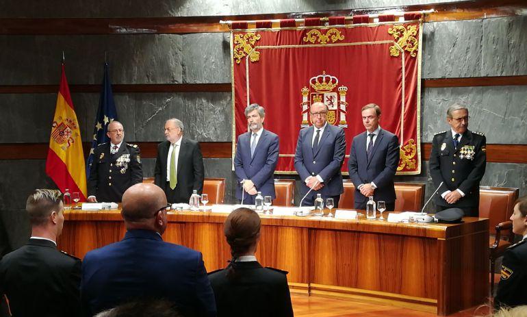 Carlos Lesmes y Germán L. Iglesias durante el acto este lunes