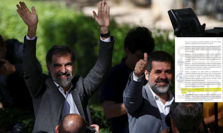 Los presidentes de Òmnium Cultural, Jordi Cruixat, y de la Asamblea Nacional Catalana (ANC), Jordi Sánchez.