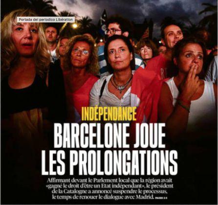 Portada del diario francés 'Libération'.