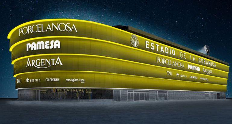 Una imagen en 3D del estadio de la Cerámica de Villarreal