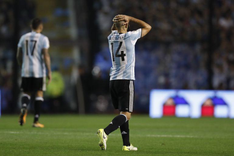 Mascherano en un momento del partido contra Perú, el pasado 5 de octubre