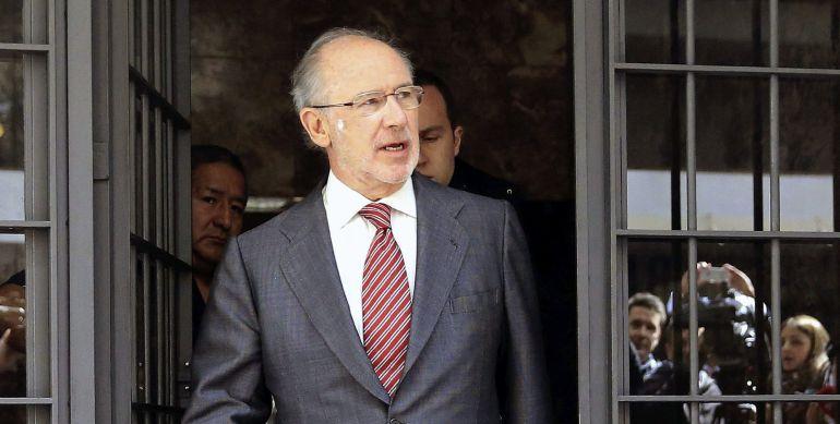 Fotografía de archivo del exvicepresidente del Gobierno Rodrigo Rato, a la salida de su domicilio en Madrid