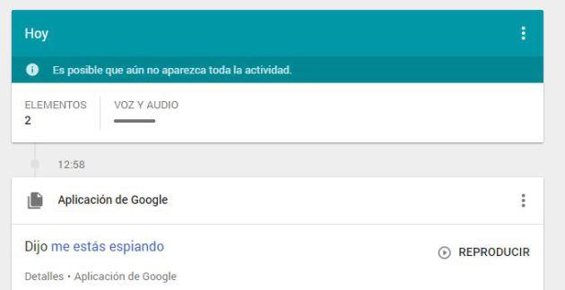 Google te permite reproducir las búsquedas de voz.