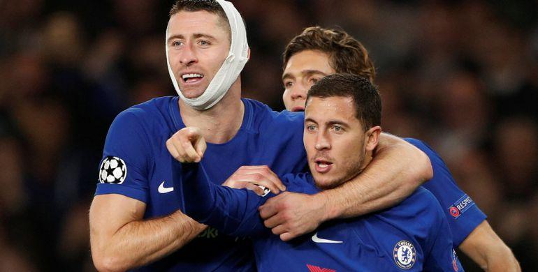 Hazard celebra su gol en Stamford Bridge