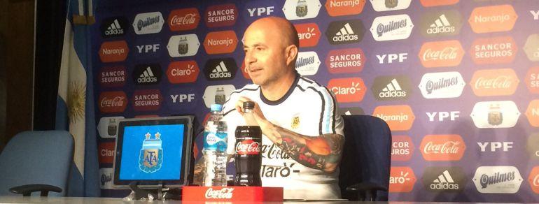 Jorge Sampaoli, en la rueda de prensa
