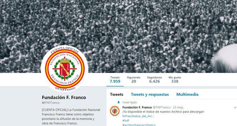 Cuenta de la Fundación Francisco Franco.