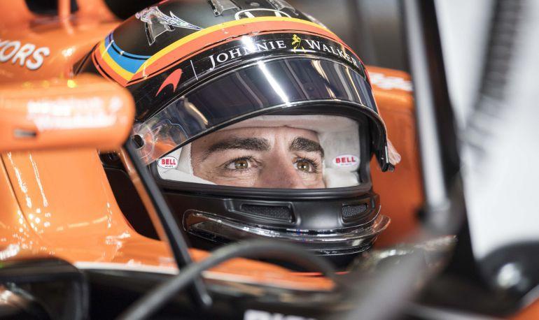 Fernando Alonso durante el GP de Estados Unidos
