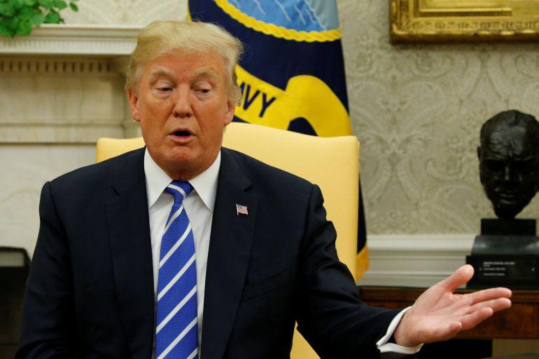El presidente Donald Trump en una reunión en la Casa Blanca el pasado viernes