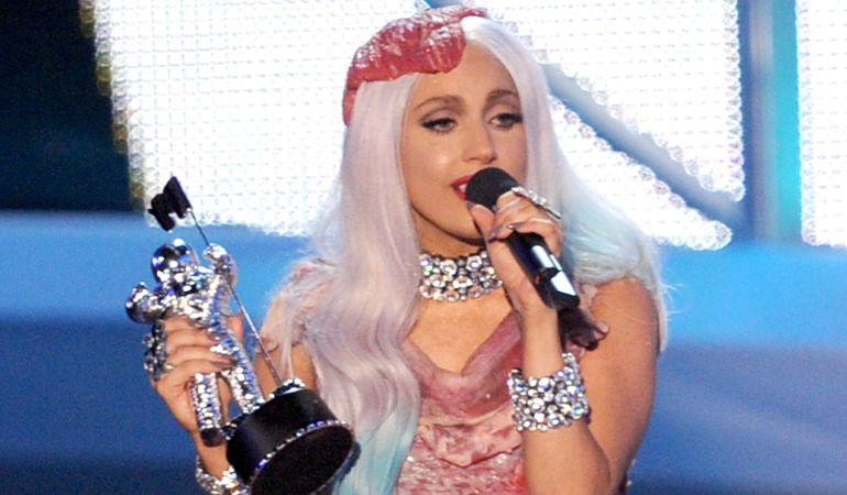 Lady Gaga durante los MTV Music Awards 2010.