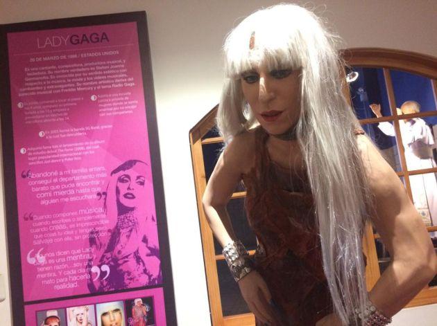 La figura de cera de Lady Gaga.