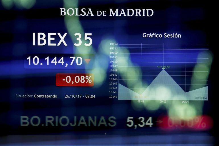 La Bolsa española comenzó la sesión en negativo.