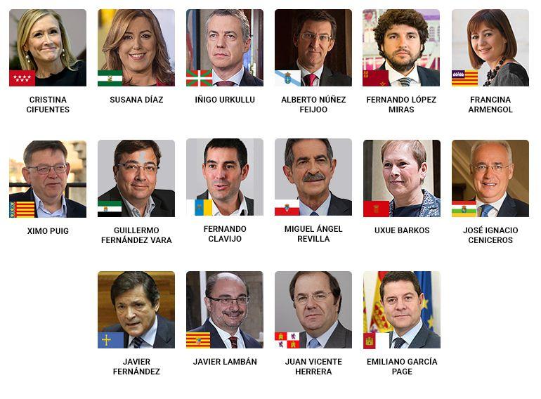Los presidentes autonómicos, ante el 155
