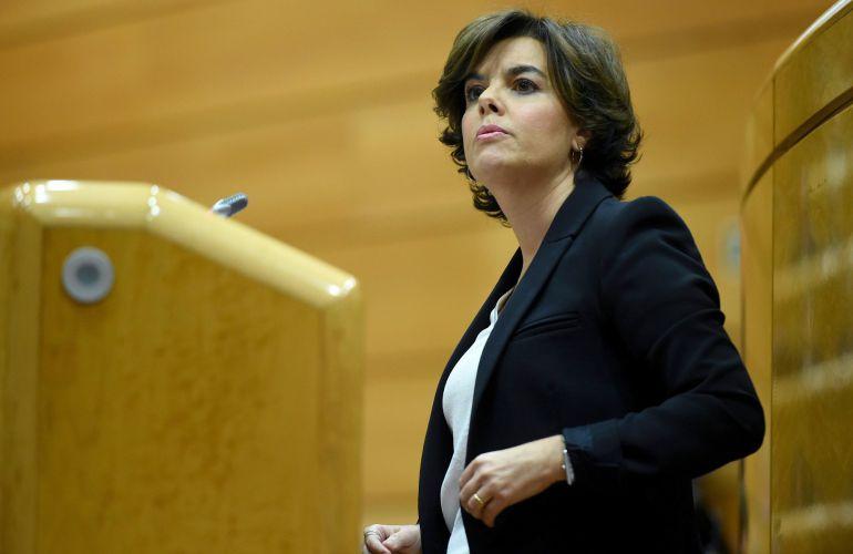 Soraya Sánez de Santamaría asumirá las funciones de Puigdemont