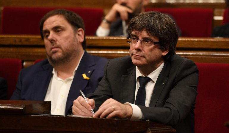 El exvicepresident Oriol Junqueras y expresident Carles Puigdemont.
