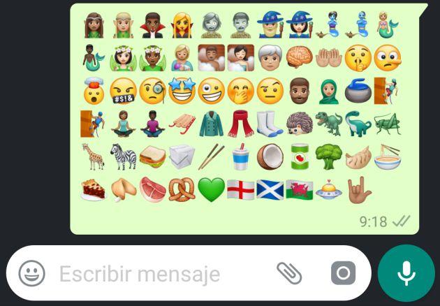 Los nuevos emojis que llegan a WhatsApp.