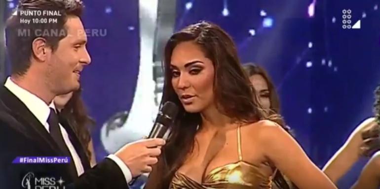 Una de las aspirantes a Miss Perú 2018 durante un momento de la gala