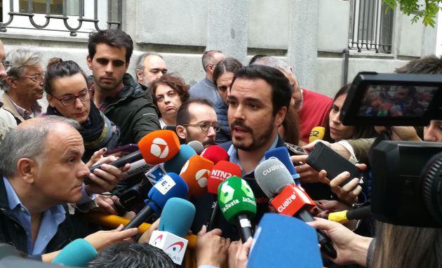 Alberto Garzón y Pablo Echenique en el Tribunal Supremo