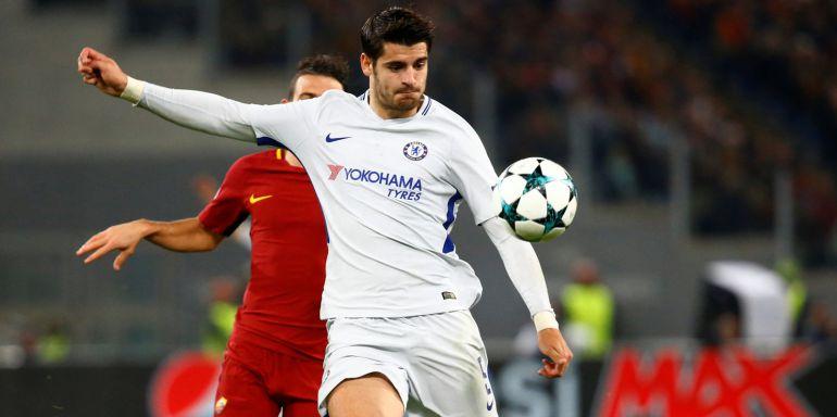 Álvaro Morata, en acción con el Chelsea.