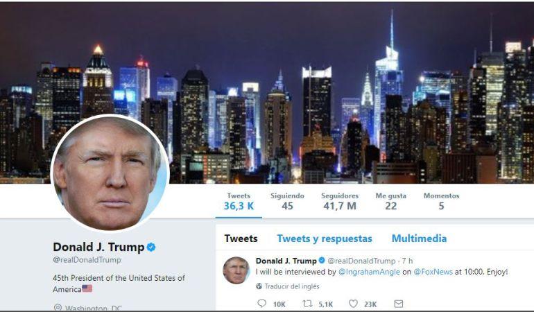 La cuenta de Donald Trump vuelve a la normalidad.