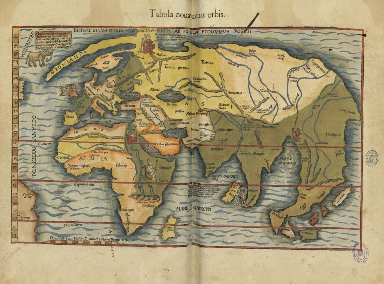 Claudio Ptolomeo, edición de Miguel Servet, BNE, 1541