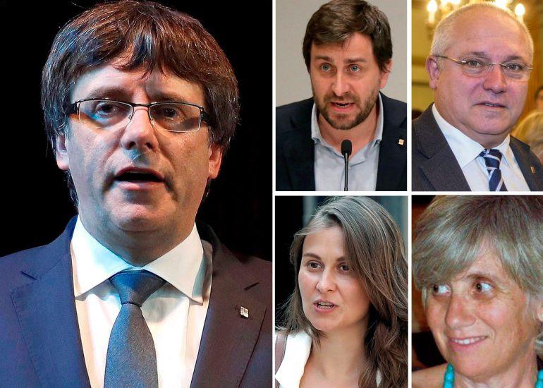 La juez de la Audiencia Nacional Carmen Lamela ha ordenado la detención del expresidente catalán Carles Puigdemont y los cuatro exconsellers que viajaron con él a Bélgica y que no acudieron a su citación como investigados por rebelión, sedición y malversación