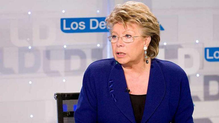 Fotografía de archivo de Viviane Reding, durante 'Los Desayunos' de TVE.