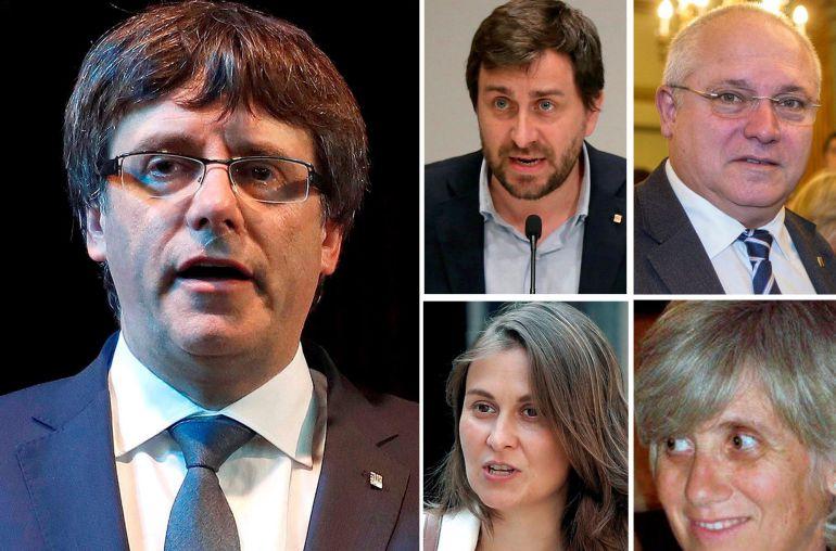La juez de la Audiencia Nacional Carmen Lamela ha ordenado la detención del expresidente catalán Carles Puigdemont y los cuatro exconsellers que viajaron con él a Bélgica.
