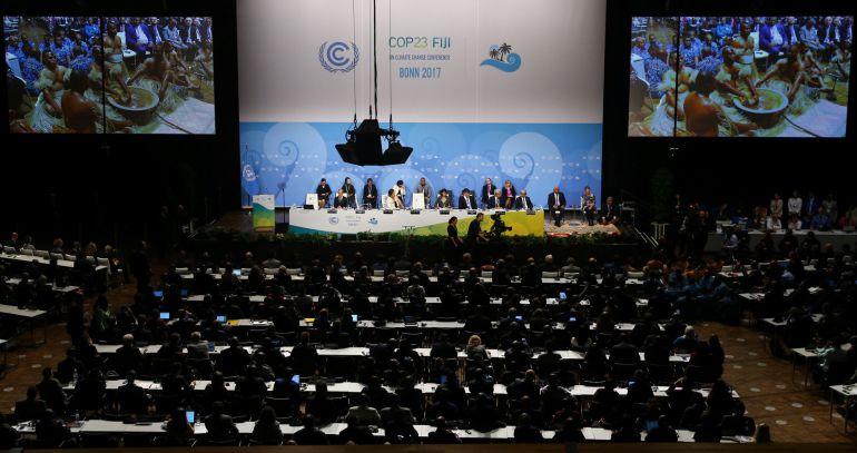 Ceremonia de inauguración de la Cumbre del Clima de Bonn (Alemania) que preside Fiji.