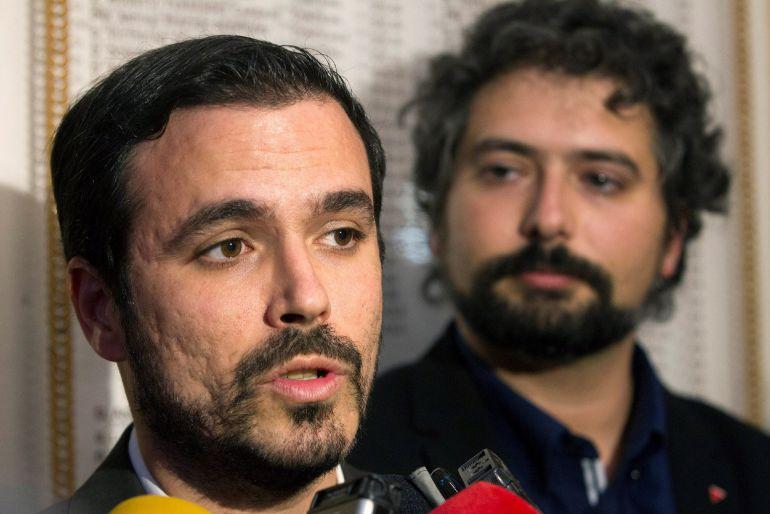 El coordinador general de IU y diputado nacional de Unidos Podemos, Alberto Garzón