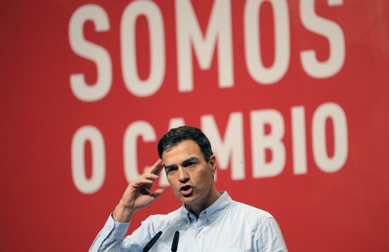 El secretario general del PSOE, Pedro Sánchez, durante su intervención el acto de clausura el XIII Congreso del PSdeG