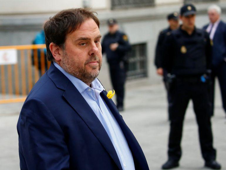 El exvicepresident catalán Oriol Junqueras, a su llegada a la Audiencia Nacional el pasado jueves
