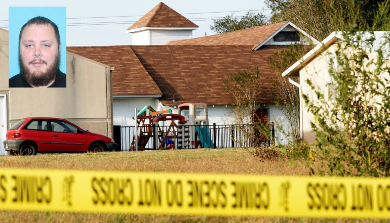 La iglesia baptista donde se produjo el tiroteo