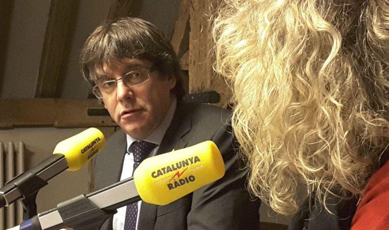 El expresidente Puigdemont ha sido entrevistado en Bélgica por 'El matí de CatRàdio'.