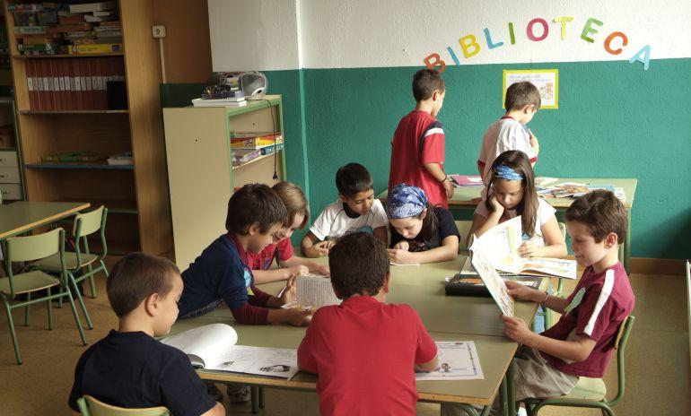 La biblioteca de un colegio de Madrid.